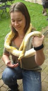 Bonny met slang